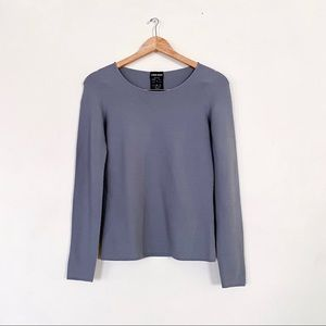 Giorgio Armani Textured Knit Long Sleeve Top 42/ M